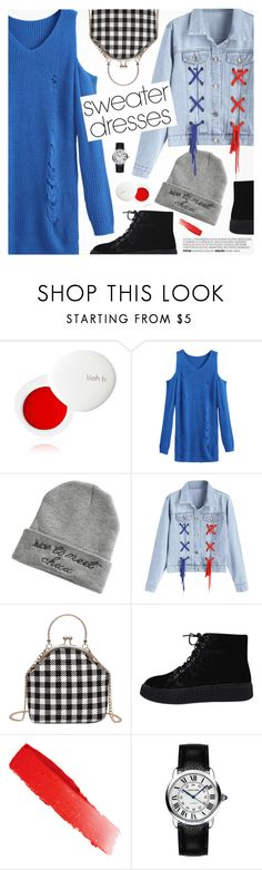 """""""Cozy and Cute: Sweater Dresses"""" by pokadoll ❤ liked on Polyvore featuring lilah b., NARS Cosmetics and Cartier"""
