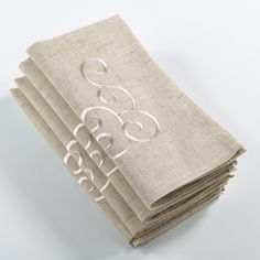Saro Embroidered Design Napkin ($29) ❤ liked on Polyvore featuring home, kitchen & dining, table linens, tan, holiday napkins, spring table linens, spring napkins, square table linens and embroidery napkins
