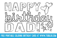 Free Printable Birthday Card for Dad