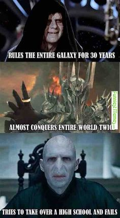 I mean he also took over the ministry and Hogwarts isn't a high school, but it gets the point that Voldemort could've done so much better