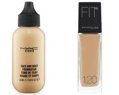 2. MAC Studio Face & Body Foundation VS Maybelline FIT me! Foundation