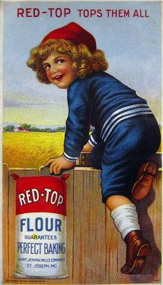 Red-Top Flour Vintage Trade Card