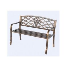 Outdoor Bench Metal Park Entry Yard Vintage Fence Back Seat Deck Conversatory