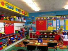 My classroom library is the heart of my room. The books are organized according to genres and fiction and nonfiction. This area is used for small group lessons and whole class reading lessons. -Sharon D.