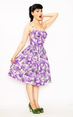Bernie Dexter Clothing Lilac Paris Dress 2X 16 18 Pinup Girl Dirndl Shelf Bust | eBay