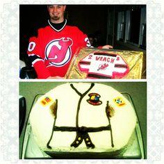 NJ Devils Jersey Cake, Tae Kwan Do Cake, Dobok Cake confection.connection's photo on Instagram
