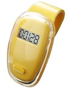 HAPTIME YGH656 LCD Display Digital Sport Pedometer Step Distance Counter Walking Run Motion Fitness Tracker Yellow ** Check this awesome product by going to the link at the image.
