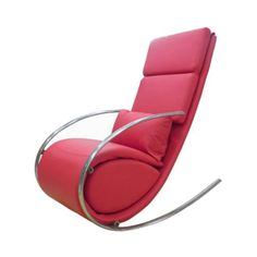 Chloe Upholstered Rocker Chair and Ottoman - RC1028P-