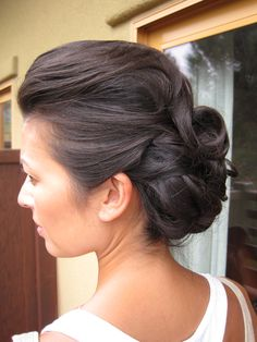 Loose romantic updo