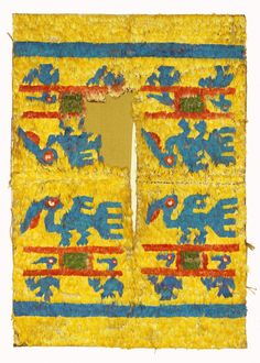 textile-museum:  Tabard, Peru, Chimu, Late Intermediate Period/Late Horizon (1400–1500). Cotton, feathers, L: 98.00 cm, W: 68.00 cm. TM 91.395. Acquired by George Hewitt Myers in 1941.