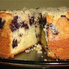 Torta fácil de arándanos