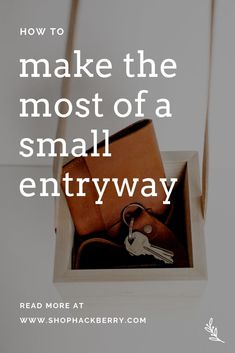 How to Make the Most of a Small Entryway: With a little creativity, and the right products, you can make your small entryway a simple, functional, and beautiful space. Minimalist Home Decor, Beautiful Space, Home Organization, Read More, Entryway, Creativity, Make It Yourself, Simple, How To Make
