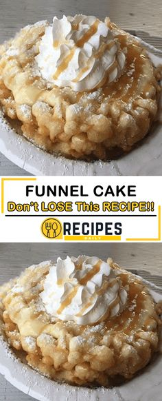 Funnel Cake Daily Recipes Cakes n pies Sweet Recipes, Cake Recipes, Dessert Recipes, Dessert Ideas, Churros, Funnel Cake Ingredients, Just Desserts, Delicious Desserts, How Sweet Eats