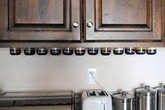 DIY: Under Cabinet Magnetic Spice Rack