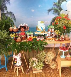 Kikids Party by Kiki Pupo: Festa Moana por 🌴🌺 . Moana Theme Birthday, Moana Themed Party, Moana Party, Luau Birthday, 6th Birthday Parties, Birthday Ideas, Aloha Party, Luau Party, Festa Moana Baby