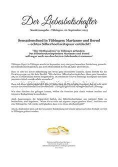 Druck/Print: Silberhochzeit - Zeitung - originelle Geschenkidee von Die Persönliche Note auf DaWanda.com