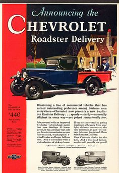 1930 Chevrolet Roadster Delivery Truck --Pinned by WhanotGems.Etsy.com