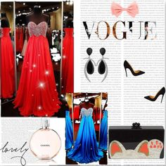 A-line Sweetheart Chiffon Prom Dresses, Evening Dresses With Rhinestone,  Cheap Formal Evening Gowns