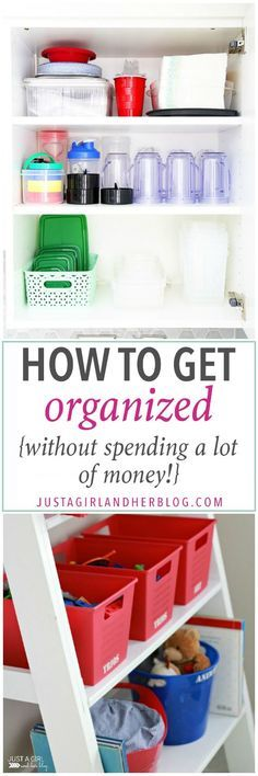 This post has so many fantastic ideas for getting organized without spending a lot of money! Must pin! Click through to see her genius tips and tricks!