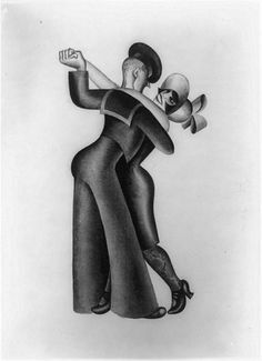 Sailor and Flapper1926    Ink by Miguel Covarrubias