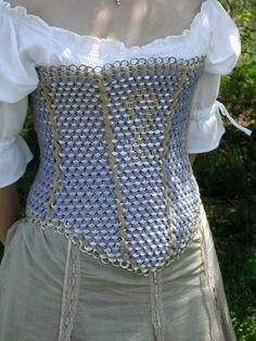 cool corset out of pop top tabs
