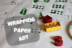 Child-decorated wrapping paper - perfect for any occasion!