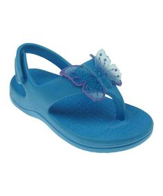 6e16dc767 Capelli New York Turquoise Butterfly Flip Flop - Girls