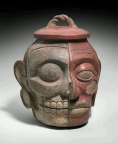 Mayan human head effigy pot Ca. 600-850 A.D, in the collections of Boston's Museum of Fine Art