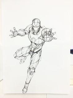 Ironman rough sketch 2 on Behance