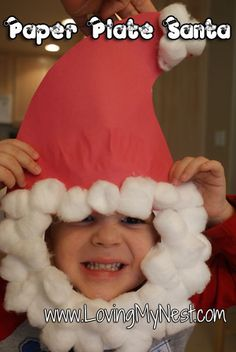 Paper Plate Santa Face- LOVE this!