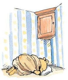 He took an old blanket and bedded down by his honey cupboard, to reassure the pots that they would be safe. Classic Winnie the Pooh Winnie The Pooh Nursery, Winne The Pooh, Winnie The Pooh Quotes, Winnie The Pooh Friends, Eeyore, Tigger, Hundred Acre Woods, Photo Vintage, Pooh Bear