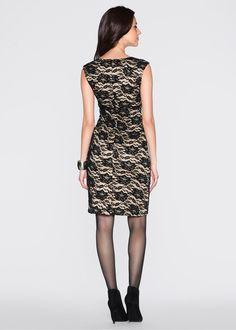Vestido tubinho de renda preto/marrom claro estampado encomendar agora na loja on-line bonprix.de  R$ 119,00 a partir de Confeccionado em poliamida com ...