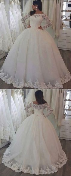 3ef9df9e34cf3 vintage lace long sleeves ball gowns wedding dresses for bride 2018 Wedding  Dresses 2018
