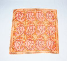 Peachcolored paisley scarf by Vera by HappyCloudImports on Etsy, $15.00