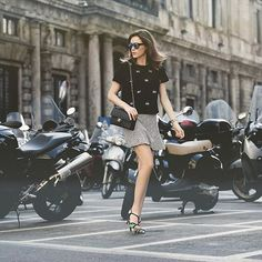 A blogger @paulinhasampaio escolheu mais um #lookTovah para arrasar nas ruas de Milão.  #estiloTovah