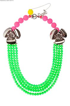 Neon Bubblelicious Collar By Melissa Curry Pewter Color, Glass Texture, Diamond Are A Girls Best Friend, Beaded Necklace, Necklaces, Turquoise Bracelet, Glass Beads, Jewelry Accessories, Neon