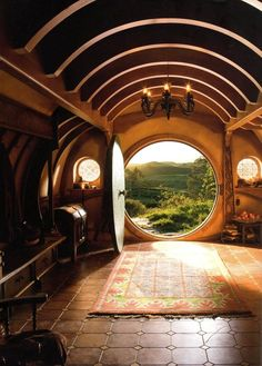 I really liked that angle on this picture because it really showed how Bilbo was so used to his home and how he was about to go on a huge adventure that would change his life