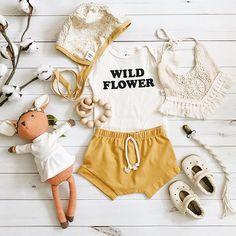 mustard outfit | kids fashion Baby Sister, My Baby Girl, Baby Love, Baby Girl Fashion, Toddler Fashion, Kids Fashion, Cute Outfits For Kids, Toddler Outfits, Fashion Designer