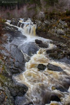 The power & Beauty of the Rogie Falls, Scotland