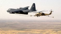 C-130. REFUELING US Air Force Reserve Helicopter 301st Rescue Squadron Flight Refueling ...