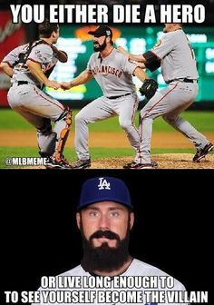 I miss him , oh why oh why the dodgers? At least it's better than the Yankees!!