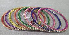 Thread & Stone Handmade Jewellery #Traditionaljewellery #Multicolouredbangles #Threadbangles Shraa Creation
