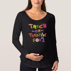 Halloween Trick Or Treating For Two Maternity T-Shirt