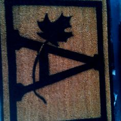Homemade doormat-great idea from a friend. I made a few for housewarming/Christmas gifts :)