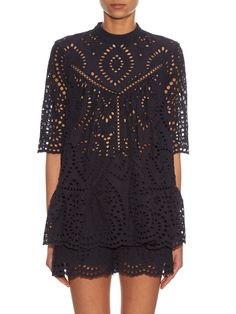 Harlequin broderie-anglaise top | Zimmermann | MATCHESFASHION.COM US