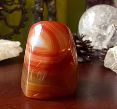A personal favorite from my Etsy shop https://www.etsy.com/listing/454081624/gorgeous-polished-carnelian-crystal