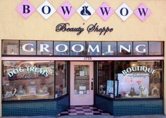 Our Shoppe front! Www.bowwowbeautys... #pet grooming, #dog grooming, #pet boutique