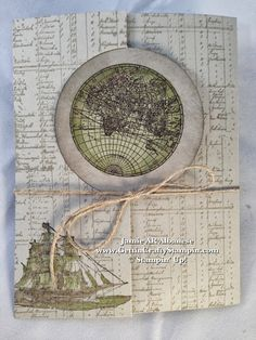 Sea the World!! #Thinlits #BigShot and #ColorCoach use #OpenSea stamp set for this cool interactive card #CardMaking #GettinCraftyStampin #PaperCrafting