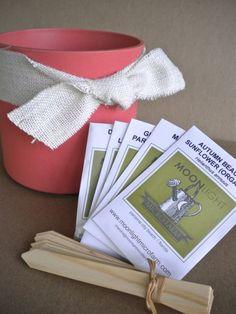 Spring Garden Kit  Heirloom Seeds Bamboo Pot by MoonlightMicroFarm, $19.50