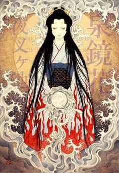 All my elements! Japanese Art Modern, Japanese Drawings, Japanese Prints, Ero Guro, Japan Illustration, Arte Horror, Japanese Painting, Japan Art, Illustrations And Posters